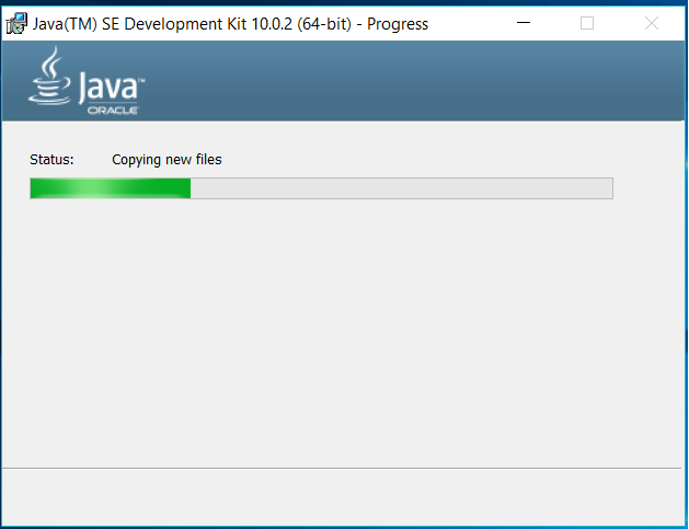 Java Installation Progress