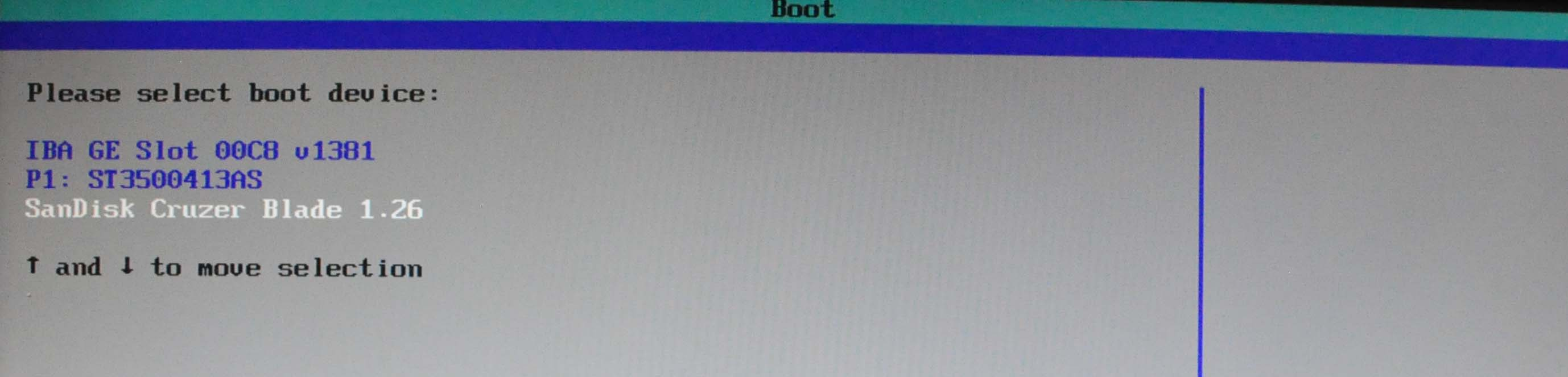Boot Selection