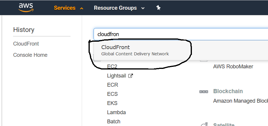 Search CloudFront