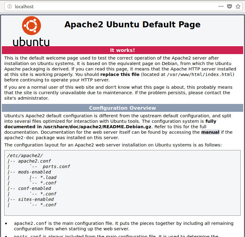 Apache 2 Welcome Page