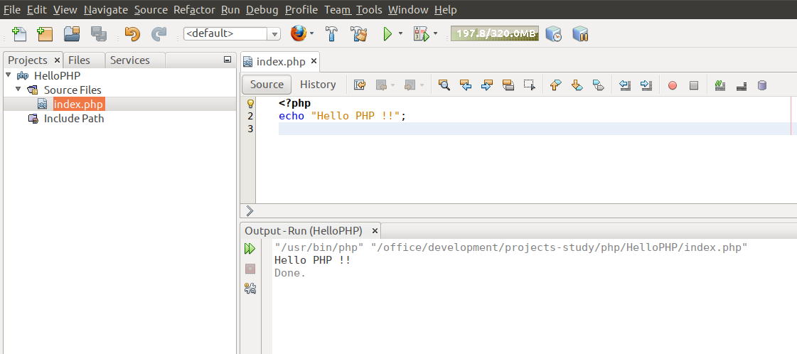 Hello PHP Output