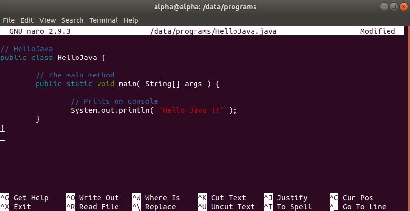 Hello Java