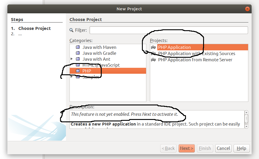 Create PHP Project in NetBeans 11
