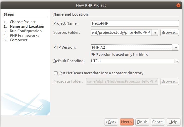 Configure PHP Project