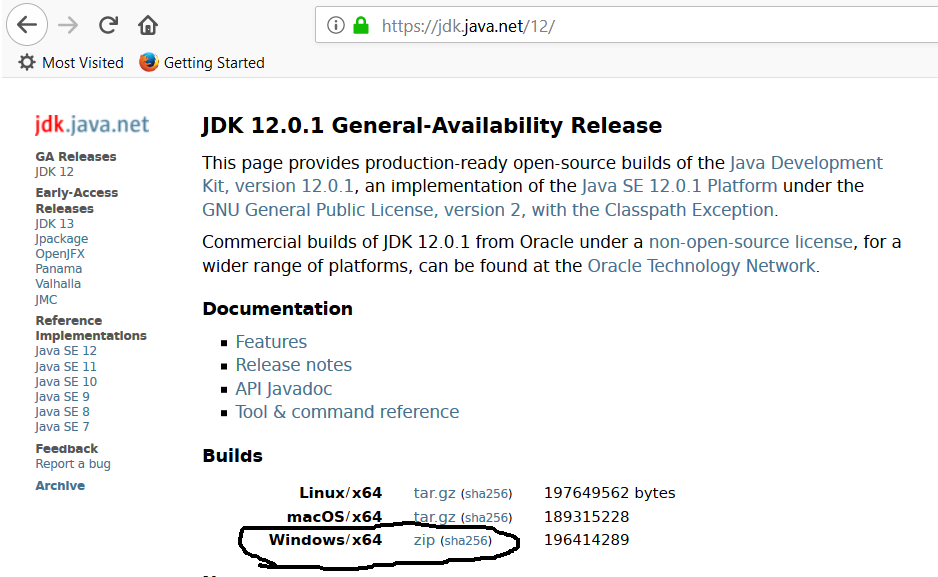Download OpenJDK 12