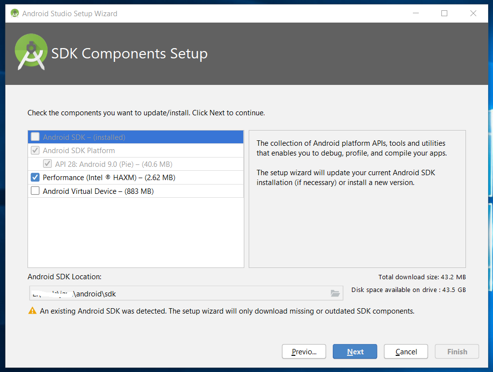 SDK Components Setup