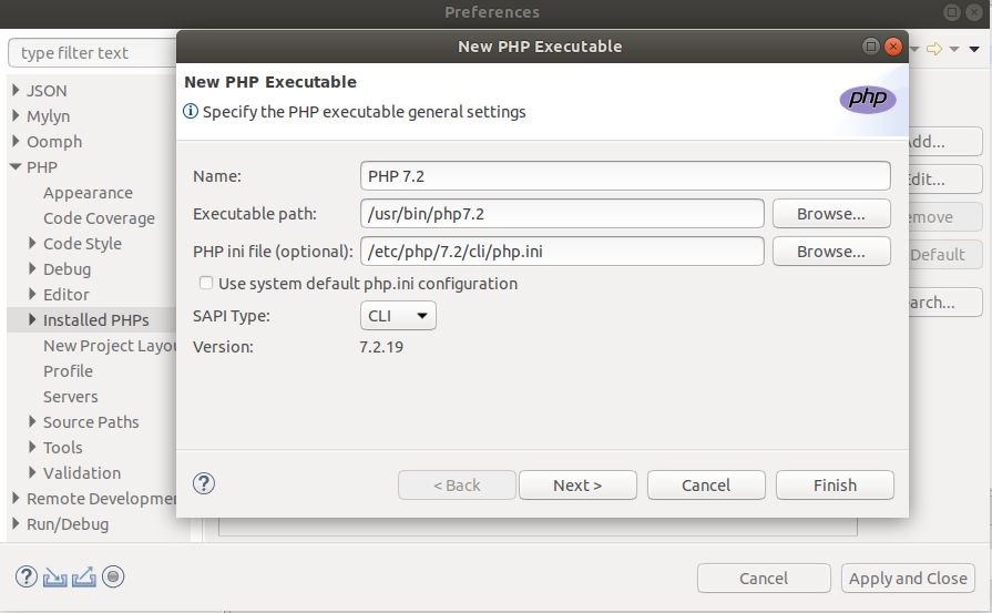 Add PHP Executable