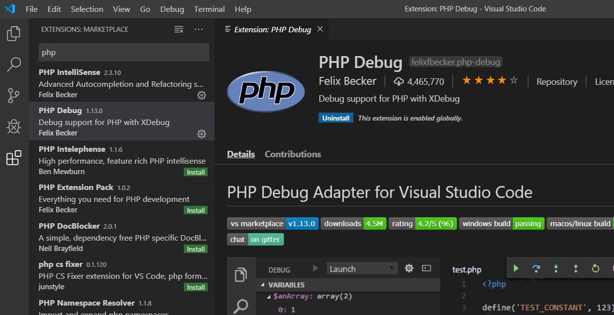 Visual Studio Code - PHP Debug