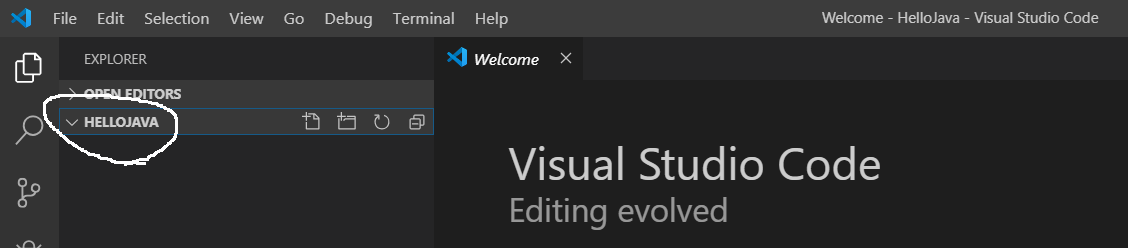 Visual Studio Code - Hello Java