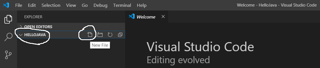 Visual Studio Code - Add Java File