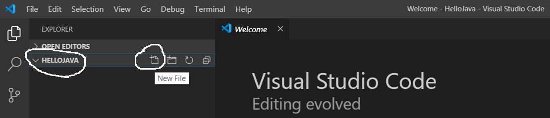 Visual Studio Code - Add Java File