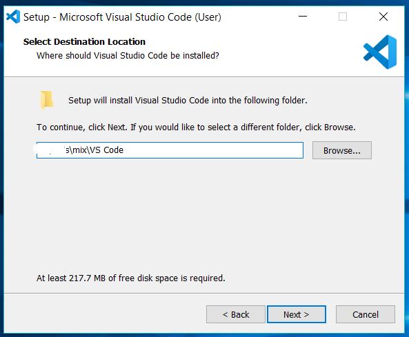 Visual Studio Code Install Location