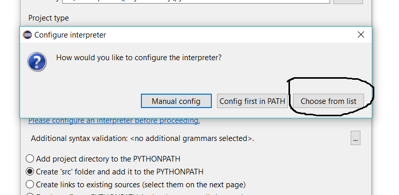 Configure Interpreter