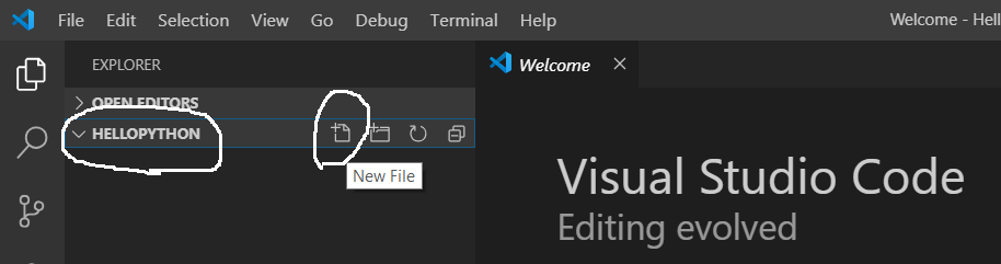 Visual Studio Code - Add File