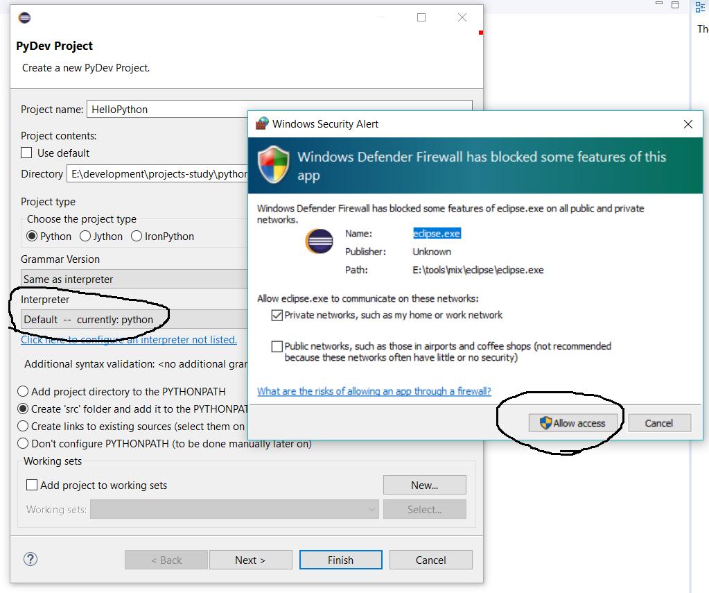 Python Interpreter Configured