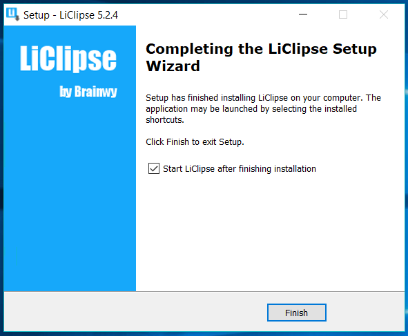 LiClipse Installed