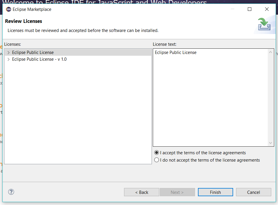 Acccept License Agreement