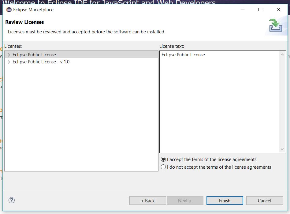 Acccept License Agreement