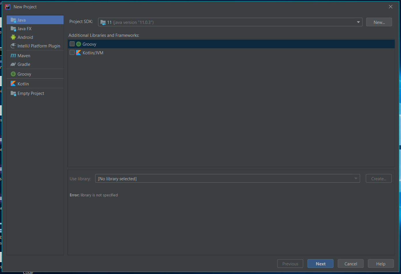 IntelliJ IDEA Create Project