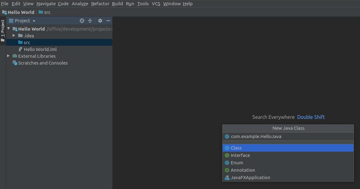 Intellij IDEA Java File