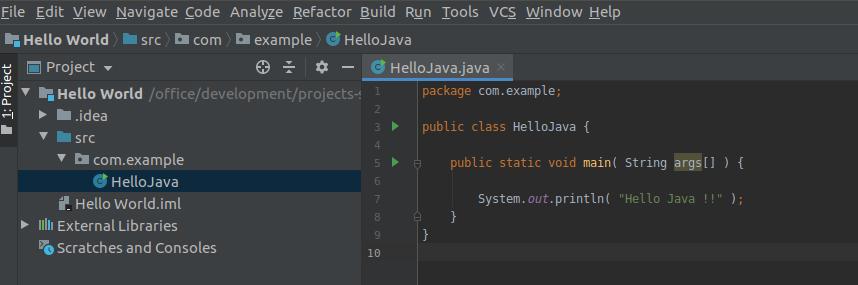 Intellij IDEA Java Program