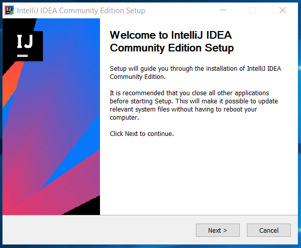 IntelliJ IDEA Welcome