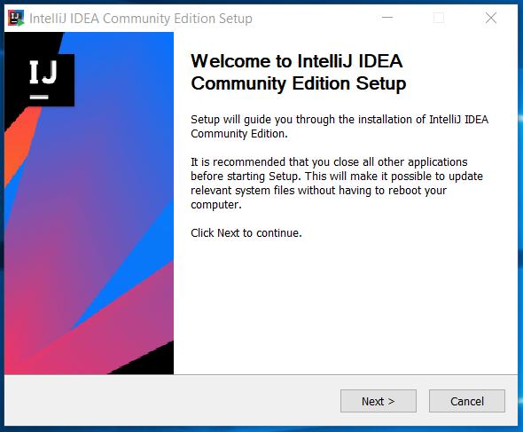 IntelliJ IDEA Welcome
