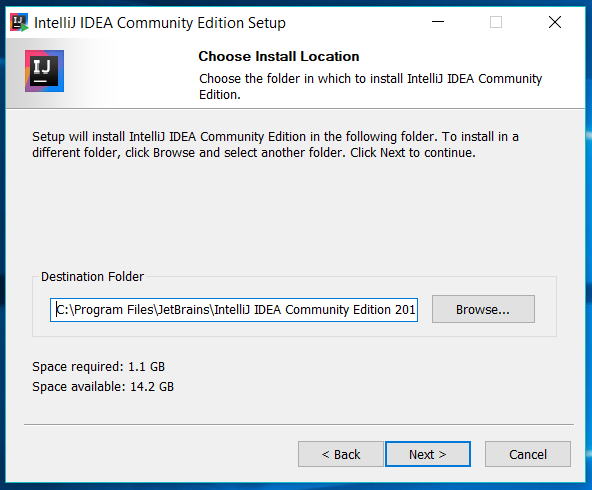 IntelliJ IDEA Installation Location