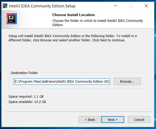 IntelliJ IDEA Installation Location