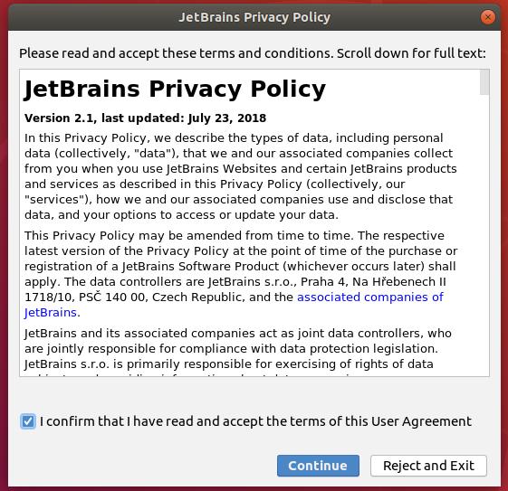 Intellij IDEA Privacy Policy