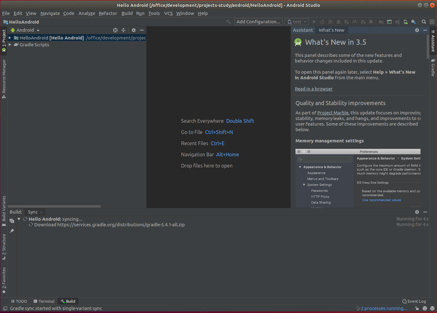 Android Studio Workspace