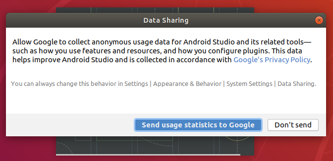 Android Studio Data Permission