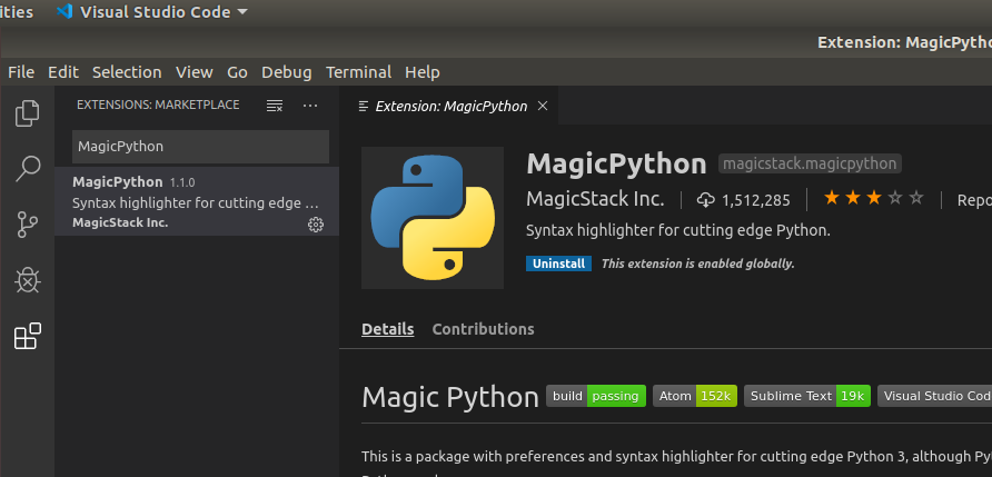 VSCode Python Extension Magic