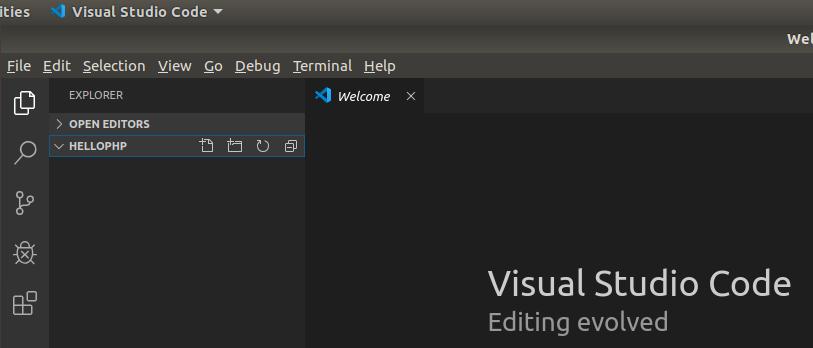 VSCode PHP Open Folder