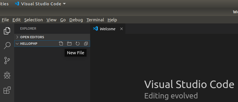 VSCode PHP Create File