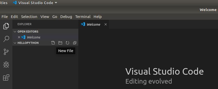 VSCode Python Add File