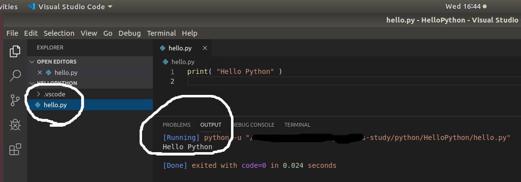 VSCode Python File Output