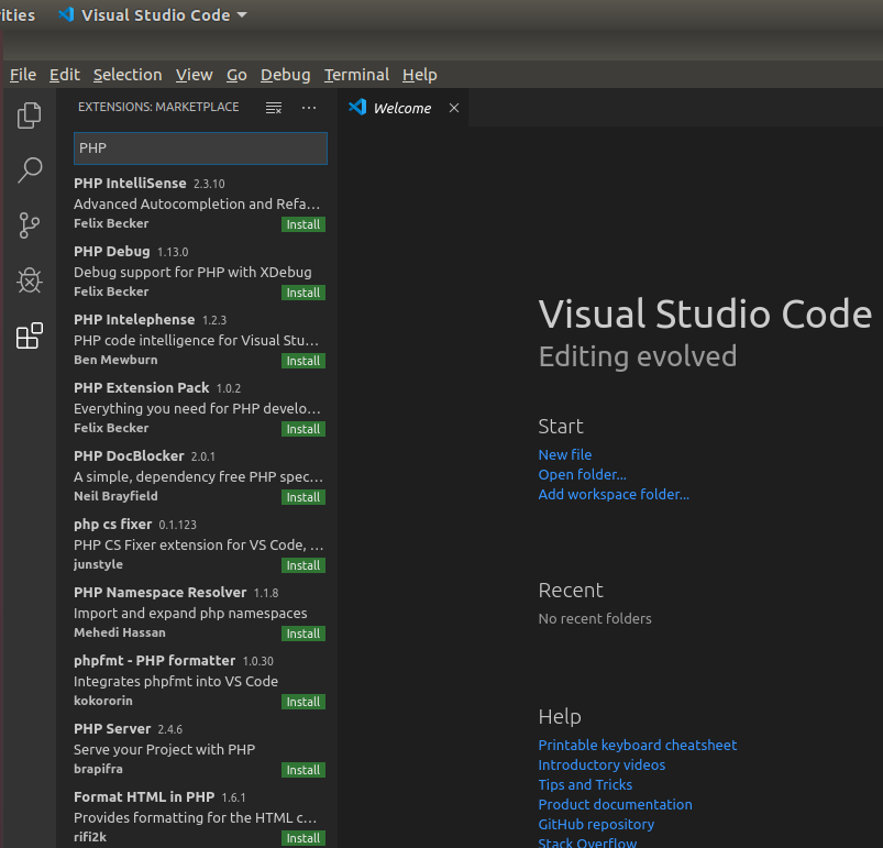 VSCode PHP Extensions