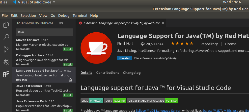 VSCode Java Extension