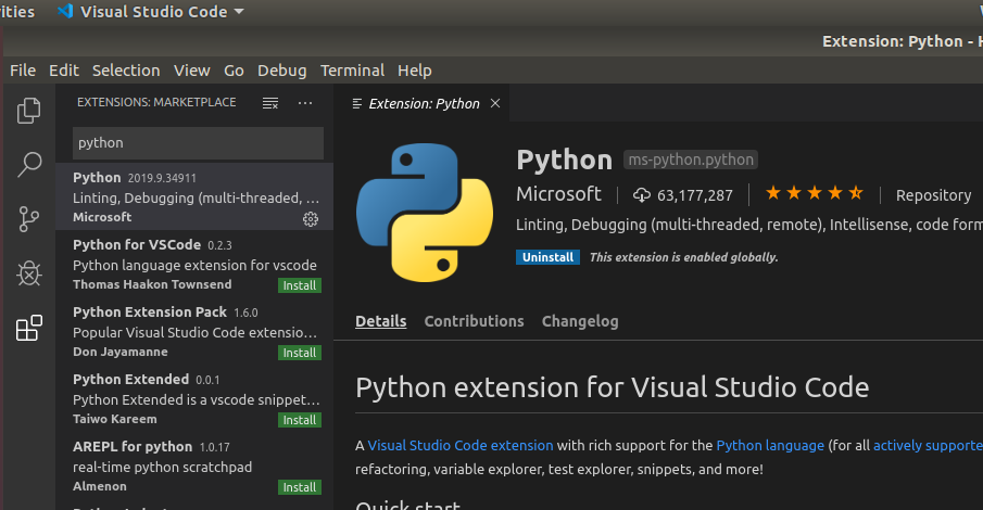 VSCode Python Extension Main