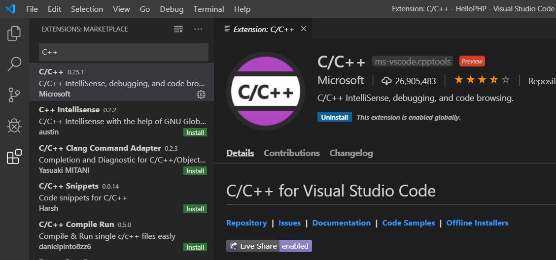 VSCode - C++ - Extension