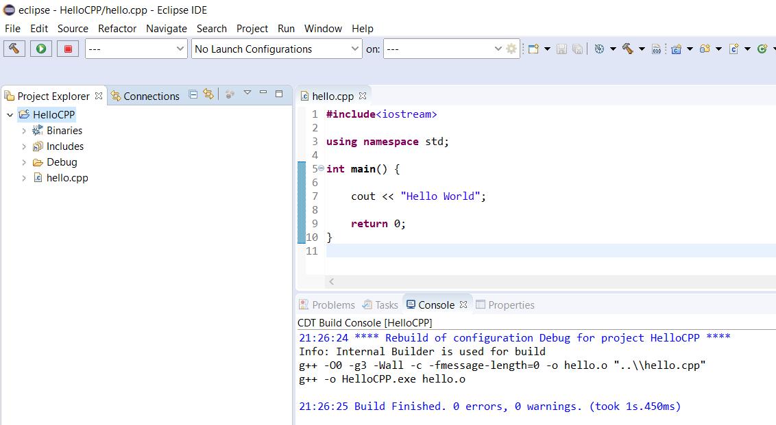 Eclipse - C/C++ - Project Built