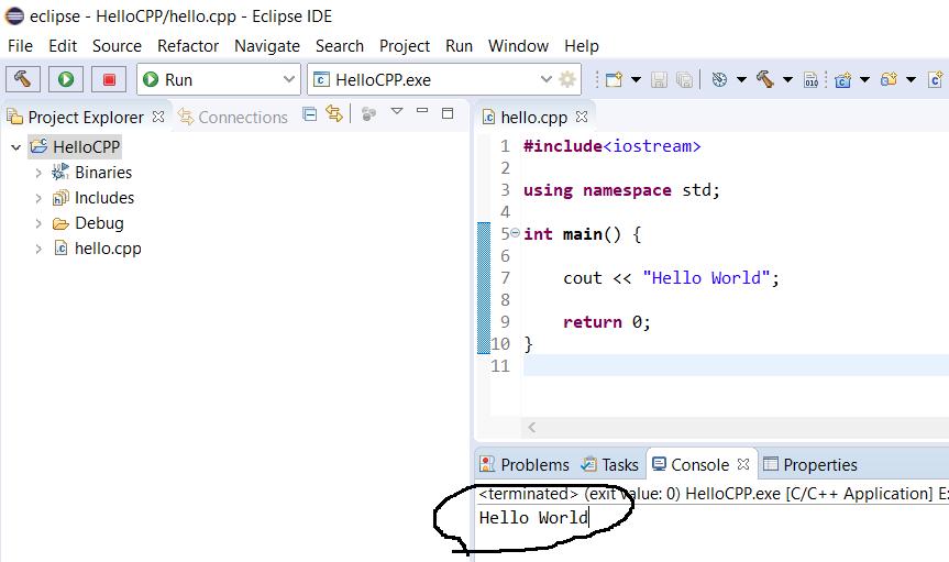 Eclipse - C/C++ - Output