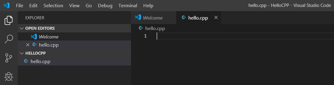 VSCode - C++ - File View