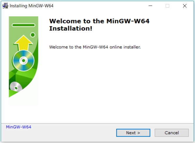 MinGW-W64 Welcome