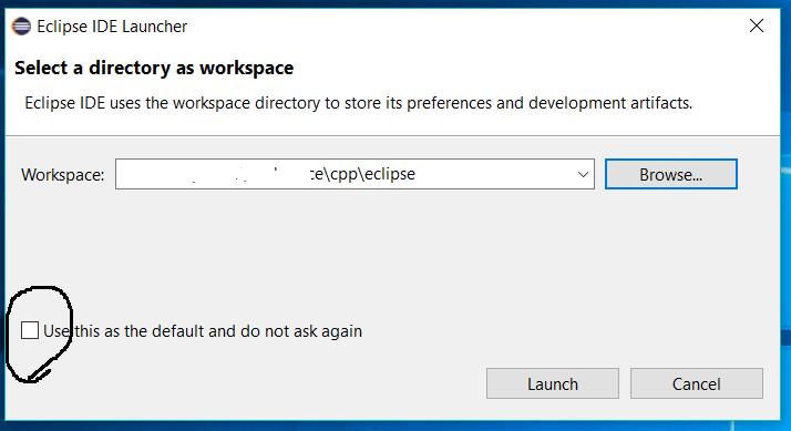 Eclipse - C/C++ - Workspace