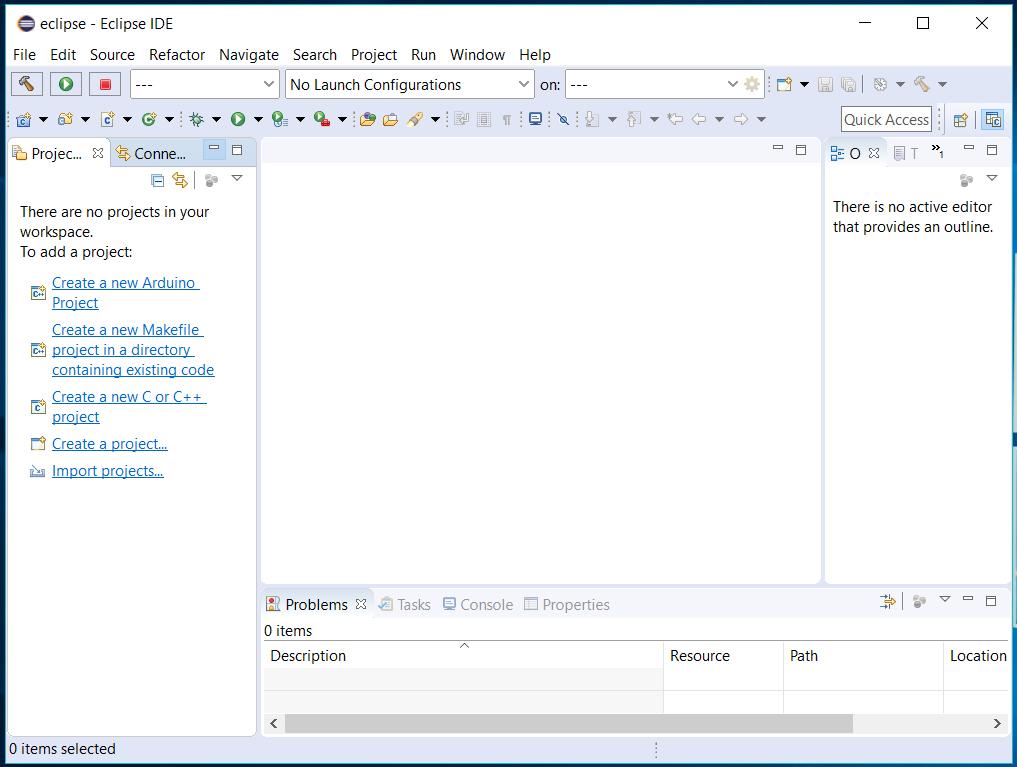 Eclipse - C/C++ - Workspace Layout