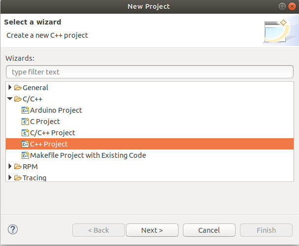 Eclipse - C/C++ - Project Type