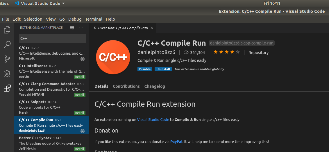 VSCode - C/C++ - Compile - Run