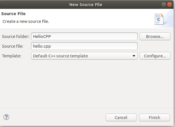Eclipse - C/C++ - File Settings